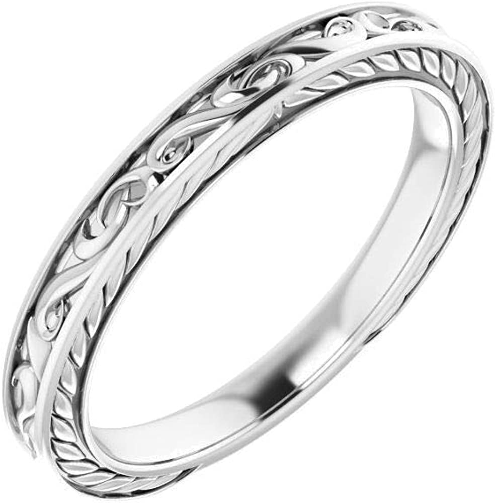 New product! New type 14kt White Gold 12mm Round in Band Size 7 Wedding Max 78% OFF