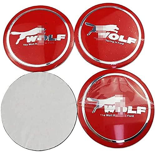 4 Piezas Tapas Centrales Tapacubos para Ford Focus Fiesta Kuga 56 mm, Rueda Resistente Al Agua Y Al Polvo Tapa Decoración Accesorios