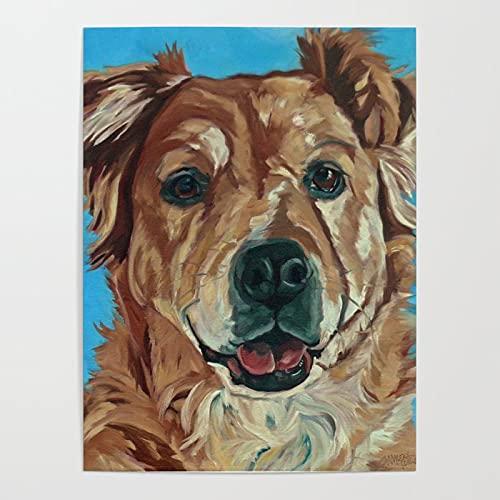 MBOQIAN Pintar por números Perro Labrador Animal para niños Adultos Kit de Pintura al óleo DIY Principiante Decoraciones para el Hogar 40x50cmSin Marco