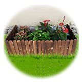 JIANFEI-Valla de jardín Valla De Madera, Miniatura Casa Jardín Césped Natural Paisaje Borde De Borde Ornamento Cerca (Carbonizado), Grosor 1,2 CM, 2 Estilos (Color : A, Size : 100X40CM)