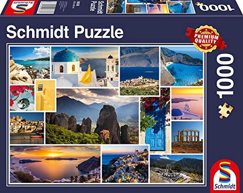 Schmidt Spiele Puzzle 58338 - Mach mal Urlaub in Griechenland, 1.000 Teile Puzzle