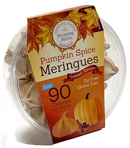 Original Meringue Cookies (Pumpkin Spice) • 90 calories per serving, Gluten Free, Fat Free, Nut Free, Low Calorie Snack, Kosher, Parve • by Krunchy Melts