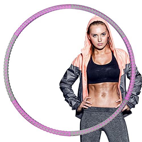 AMTOK Fitness hoelahoep banden, stabiele roestvrijstalen kern en premium schuim, 6 segmenten, afneembare hoelahoepband, geschikt voor beginners, kinderen, volwassenen, fitness, afslanken, training, massage