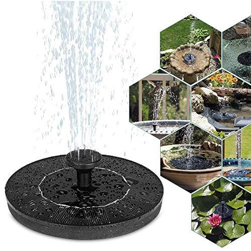 Jorzer Bomba De Fuente Solar 1w Circle Garden Solar Powered Water Pump Pump Pump Pump para Estanques De Baños De Aves