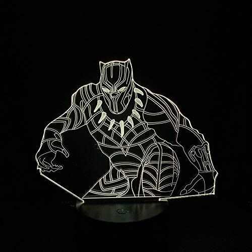 Nur 1 Stück Superhelden Film DC lustige Superhelden Led Nachtlicht Black Panther für Fans Trevor Zarathustra Superhelden Filme Erwachsene Led 3D Lampe Usb