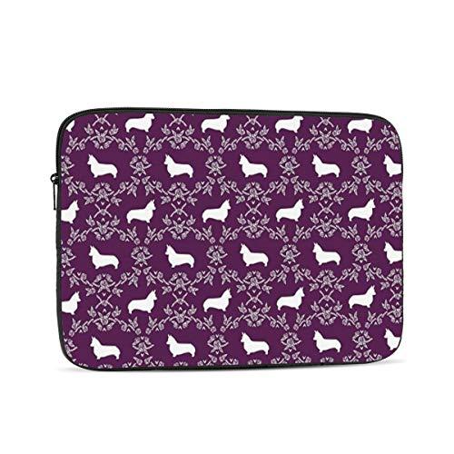 Laptop Sleeve Corgi Silhouette Tablet Bag 10 Inch, 12 Inch, 13 Inch, 15 Inch, 17 Inch
