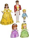 Sofia the First Royal Family 5-Piece Figure Set, Includes Princess Sofia, Princess Amber, Prince James, Queen Miranda, and King Roland