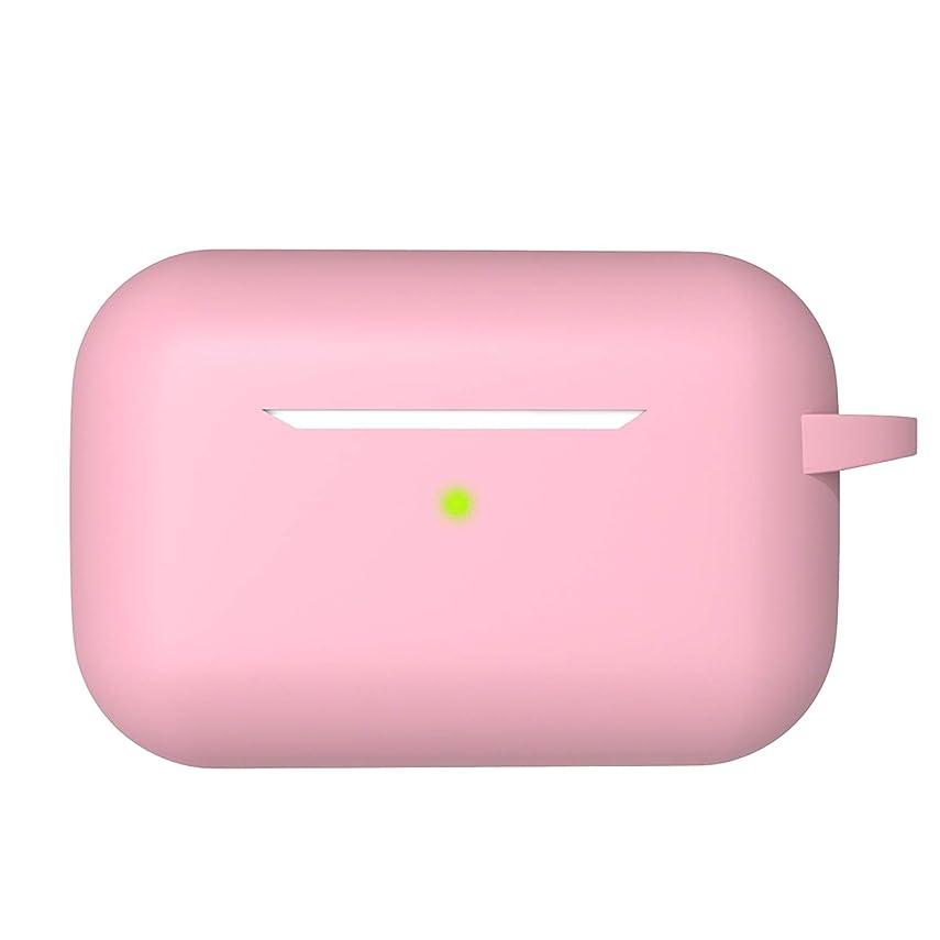 チーターコンクリートフィッティングAirpodsプロケース食品グレードシリコンTWS Bluetoothイヤホンヘッドフォン保護ソフトシリコンカバー用12色シリコンケース-ピンクケース-
