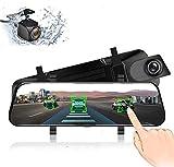 EKLEVA 4G ADAS Car DVR Camera 10' Android 8.1 RAM2GB ROM16GB Stream Media Rear View Mirror FHD 1080P WiFi GPS Dash Cam Registrar Video Recorder