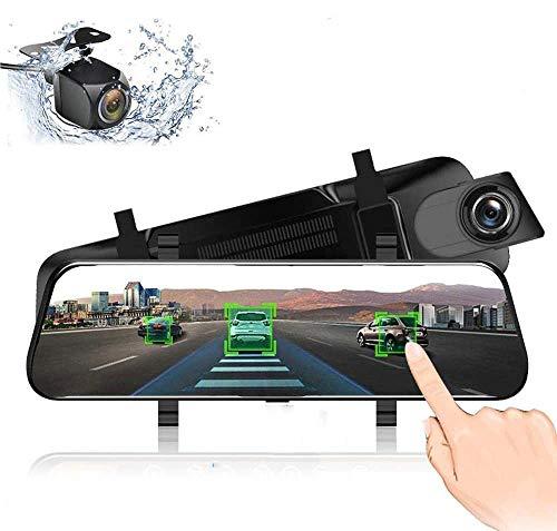 "EKLEVA 4G ADAS Car DVR Camera 10"" Android 8.1 RAM2GB ROM16GB Stream Media Rear View Mirror FHD 1080P WiFi GPS Dash Cam Registrar Video Recorder"