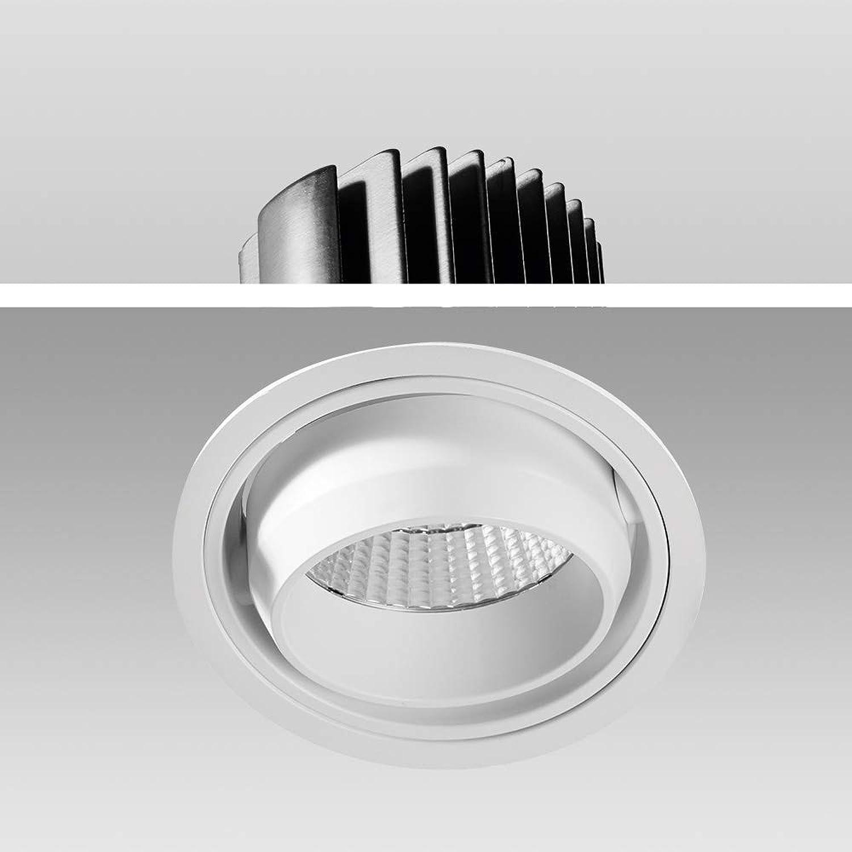 Mextronic Decke High Voltage LED Einbauleuchte Genius 30W 930 Warmwei S6072  150mm