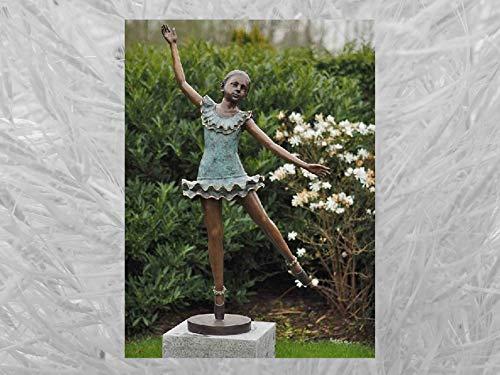 IDYL Escultura de bronce de bailarina, 130 x 64 x 32 cm, figura clásica de bronce hecha a mano, escultura de jardín o decoración de salón   artesanía de alta calidad, resistente a la intemperie