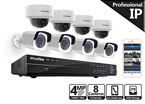LaView 4MP security camera system, 8...