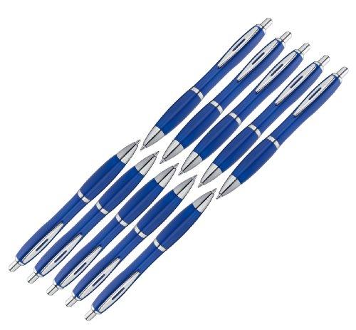 presents & more - 10 penne a sfera in colori alla moda Blu