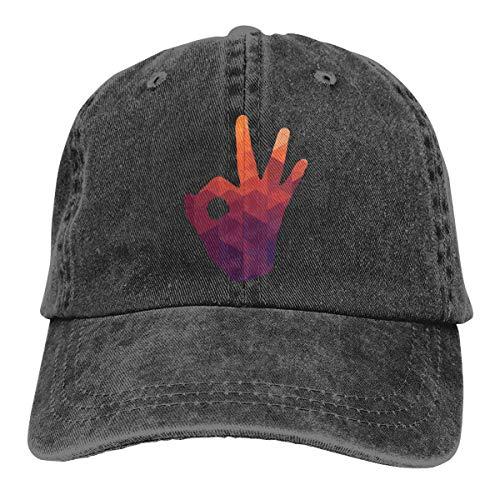 DREI-Punkt-Schuss Unisex Washed Einstellbare Fashion Cowboy Hat Denim Baseball Caps Unisex14
