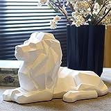 HJIKM Statues De Jardin Statues Décoratives Lion Résine Statue Animal Sculpture Figurine Décor À La Maison Statues Décoration Decoratie