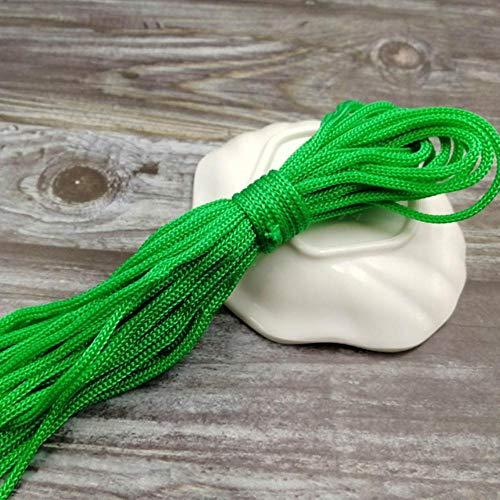 WEDSA 10meters 5mm cuerda de nylon Cords Artesanía Hilo trenzado decorativo DIY accesorios hechos a mano decoración del...