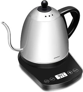 dretec(ドリテック)【最新モデル】 温度調節付 電気ケトル ステンレス コーヒー ドリップ ポット 細口 0.8L ブラック