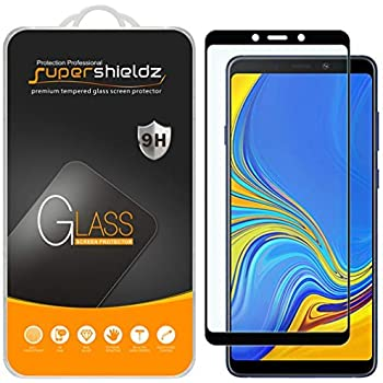 (2 Pack) Supershieldz for Samsung Galaxy A9 (2018) Tempered Glass Screen Protector, (Full Screen Coverage) Anti Scratch, Bubble Free (Black)