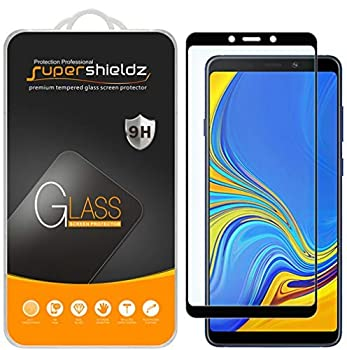 2 Pack  Supershieldz Designed for Samsung Galaxy A9  2018  Tempered Glass Screen Protector  Full Screen Coverage  Anti Scratch Bubble Free  Black