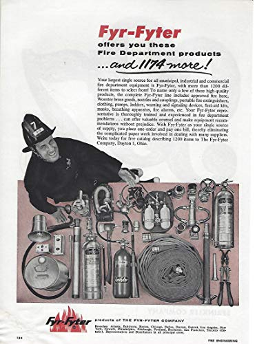 1961 Original Magazine Print Ad #2 Fyr Fyter Asst Fire Equipment Hose Extinguisher