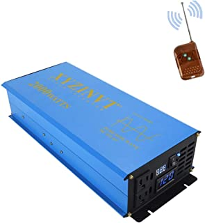 XYZ INVT 2000 watt 2kw Pure Sine Wave Power Inverter dc 12v to ac 120v with LED Display and Wireless Remote Controller for RV Car Off-Grid Solar System (2000w 12v RC)