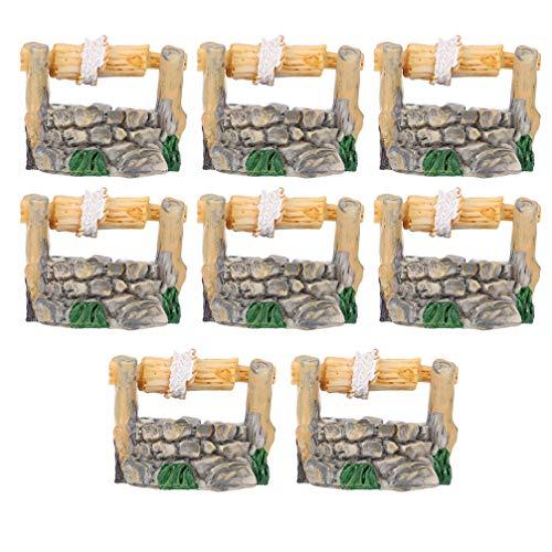 GARNECK 8 Piezas Miniatura de Estilo Antiguo de Fuente de Ag