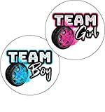 Gender Reveal Burnout Stickers Party Supplies Burnouts Baby Shower Tires Decorations Voting Glossy Stickers 36 Pack