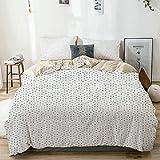 Juego de funda nórdica beige, patrón futurista con pequeños cuadrados grises y efecto óptico, juego de cama decorativo de 3 piezas con 2 fundas de almohada Fácil cuidado antialérgico suave suave