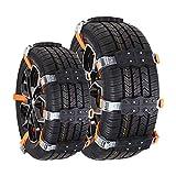 Chaînes à neige de voiture,Vogvigo chaînes à neige, chaînes à neige, chaînes à neige TPU (2PCS), chaînes de sécurité pour pneus d'hiver, adaptées aux camions légers/SUV/VTT