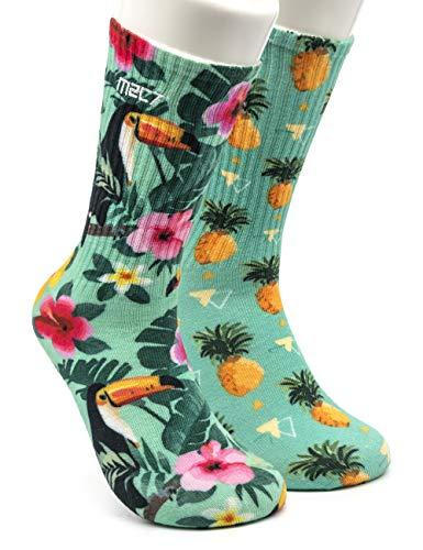 GORNATION® Calisthenics Socken mit Mustern für Herren und Damen mit bunten Motiven für Crossfit und Fitness - Perfekt geeignet für Sport und Freizeit (M2C7 (1 Paar), S/M)