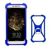 Lankashi Blau Silikon Schutz Tasche Hülle Case Ring Halter