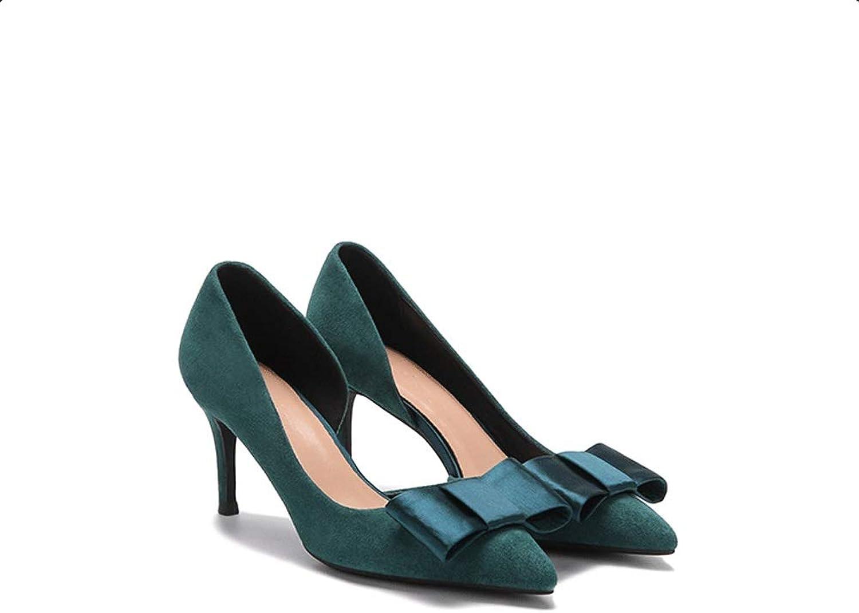 Schwarz Leder Spitzen Stiletto Side Air High Heels Einzelnen Schuhe Weiblichen Frühling Sexy Grün Bogen Frauen Schuhe Frauen Pumps Frauen Schuhe