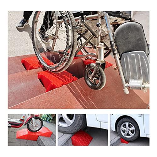 BWBZ Las Rampas Rojas Portátiles La Altura Y El Ancho se Pueden Empalmar Y Combinar Resistentes Al Desgaste Y Antideslizantes para Carreteras/Escalones/Pendientes/Subidas/Estacionamientos Etc.