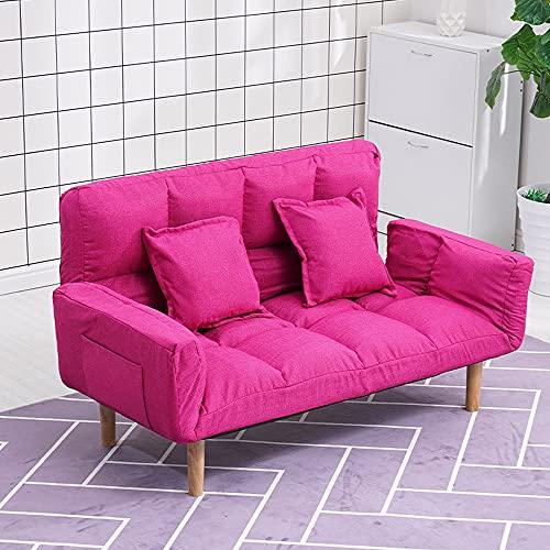 KaminHome - Sofá 2 plazas Rose tapizado Tela algodón Perezoso Simple Plegable...