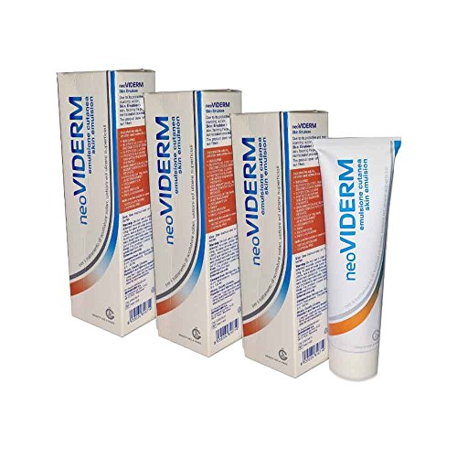 3 x Neoviderm – Emulsión cutanea para el tratamiento de quemaduras y quemaduras – Tubo de 100 ml