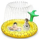 Ancesfun Splash Pad, 67 ' Kinder Sprinkler Play Matte, Spielmatte Wasserspielzeug Pool Baby Pad für Outdoor Sommer Garten Aufblasbar Sprinklerpool für Kinder Wasserspielmatte, Haustiere