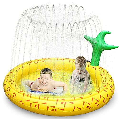Ancesfun Kids Sprinkler Mat, 67' Splash Pool Play Pad Water Toys for...