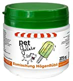 cdVet Naturprodukte petGelato HägenRübli 375 g - Hund, Katze, Pferd - Eismischung - Leckerli - erfrischende Abkühlung -  Feinschmecker - Sommerhit -  natürliche Zutaten - Möhren-, und Erdbeertrester -