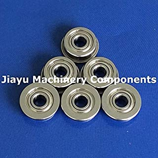 Fevas 50 PCS SF605ZZ Flanged Bearings 5x14x5 mm Stainless Steel Flange Ball Bearings DDRF-1450ZZ