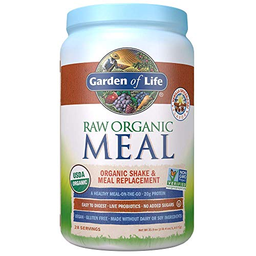 Garden of Life Raw Organic Meal Replacement Powder - Vanilla Chai, 28 Servings, 20g Plant Based Protein Powder, Superfoods, Greens, Vitamins Minerals Probiotics, All-in-One Meal Replacement Shake