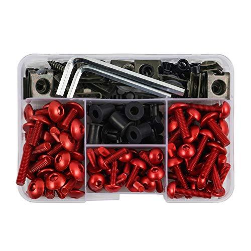 ZIHAN Feil Store M5 M6 Tornillos de carenado completos Ajuste para Suzuki SV650 SV1000 V-Strom 650 1000 Bandit 400 600 1200 GSF400 GSF1200 GS500 (Color : Red)