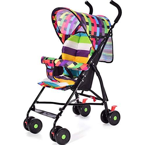 Kinderwagens voor peuters Multifunctioneel Lichtgewicht Vouwkussen Park Wandelen Baby Kinderwagen Meisje Multi kleuren