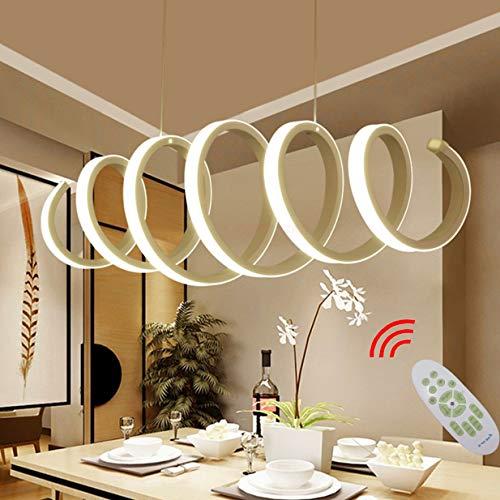 LED Esstisch Esszimmer-lampe Dimmbar Pendelleuchte Modern Frühling Design Hängelampe Chic Acryl Metall Fernbedienung Decke Leuchten für Wohnzimmer Schlafzimmer Küche Couchtisch Bar Dekor Lampen L70cm
