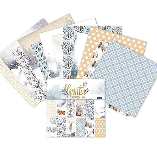 Multiuso Inverno Buon Natale Serie 12 Modelli Scrapbooking Carta Pacchetto Arte Artigianato Carta di Carta