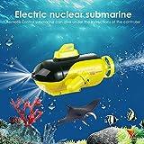 Barco RC para niños, barco a control remoto, mini barco de alta velocidad, submarino, barco de alta velocidad, juguetes acuáticos eléctricos para niños, 3,6 V/150 mAh