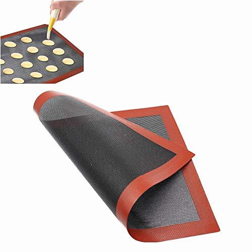 Voarge Tappetino da Forno in Silicone Foglio da Forno, Tappetino Microforato da Forno Antiscivolo Teglia da Forno Riutilizzato, Antiaderente, Resistente al Calore, 40x30cm