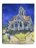 アートパネル ゴッホ 抽象画 油絵風景画 壁絵 モダン 絵画 ポスター インテリア絵画 『オーヴェルの教会』 壁アート 壁掛け絵画