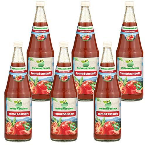 6 x Wolkensteiner Tomatensaft 1,0 L 100 % Fruchtgehalt inkl. Pfand