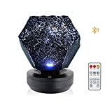 LEFUYAN Sky Projector Light, 60000 Stars Starry DIY Assembly Planetarium Lamp, for Home Bedroom (3Colours+4Levels+10Music+Bluetooth, Rechargeable)